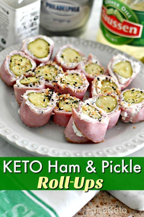 Keto Ham & Pickle Roll-Up
