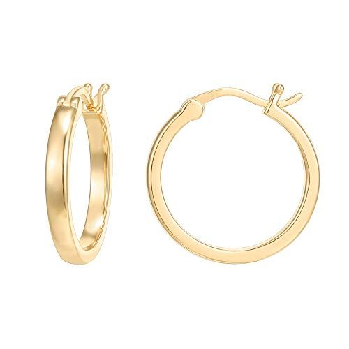FB Jewels Solid Stainless Steel Polished Rose Ip-Plated Circle Post Earrings