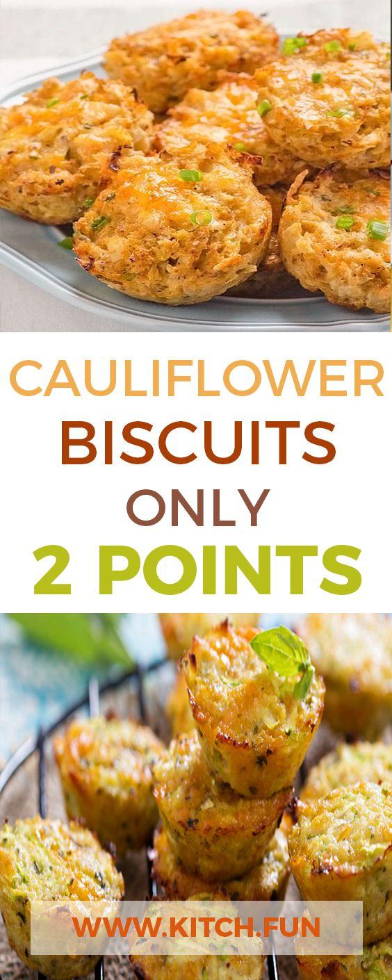 Cauliflower Biscuits Only 2 Points Weight Watchers Meals