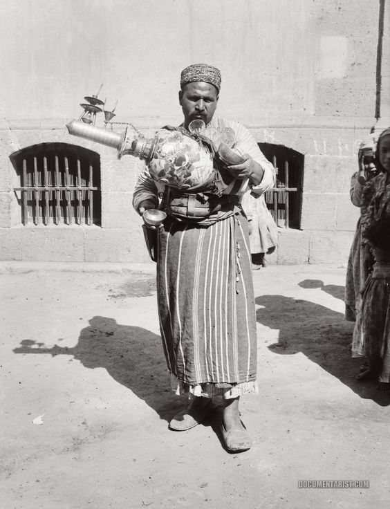 Cairo lemonade seller. Cairo, Egypt. 1900-1920