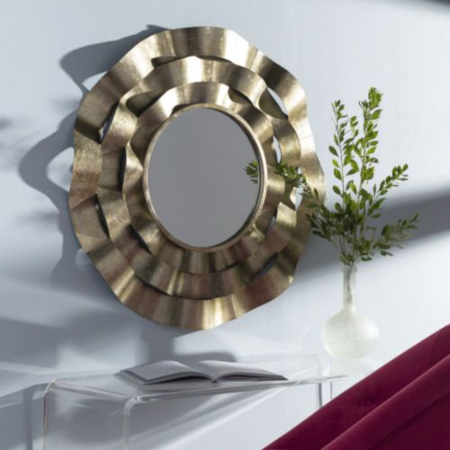 Surya Efr001 332 Efren Gold 33 In Wall Mirror Champagne Contemporary Modern Bellacor 2021 Accent Mirrors