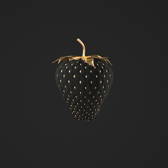 Black strawberry. Image via hepsylone | Tumblr