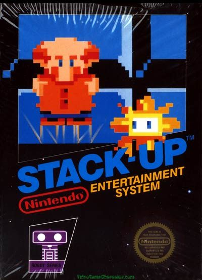 Stack Up - Label or Box Art #nintendo games #gamer #snes #original #classic #pin #synergeticideas #gameon #play #award