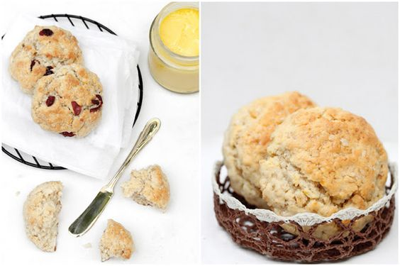 Foodagraphy. By Chelle.: Lemon curd and lemon cranberry oatmeal scones
