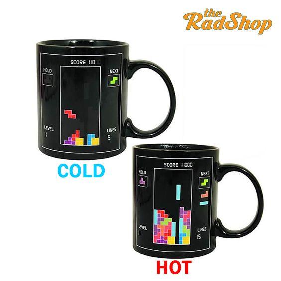Tetris Porcelain Color Changing Mug