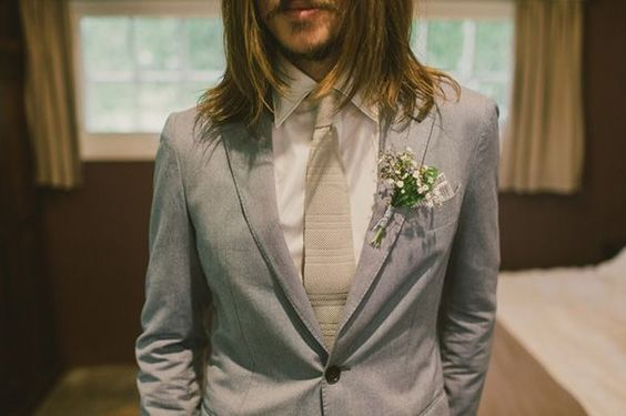 ALISON + NATHANIEL // #groom #grey #suit #tie #shirt #white #wedding
