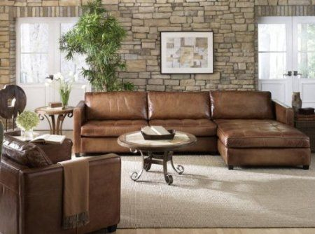 Phoenix 100 full aniline leather sectional sofa with for Bellagio 100 leather chaise