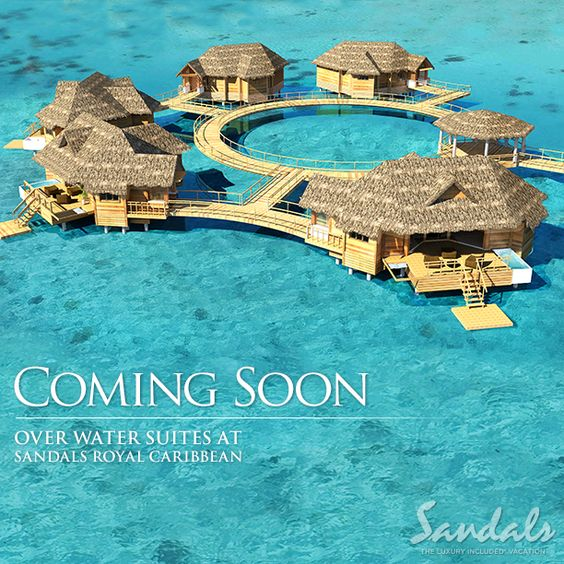 Changing the Caribbean honeymoon destination forever, Sandals Resorts introduces over-the-water, luxury suites at Sandals Royal Caribbean, Jamaica. The most exciting honeymoon news all year!