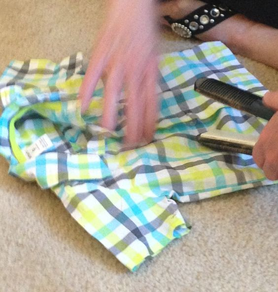 Ironing baby clothes--quick & easy