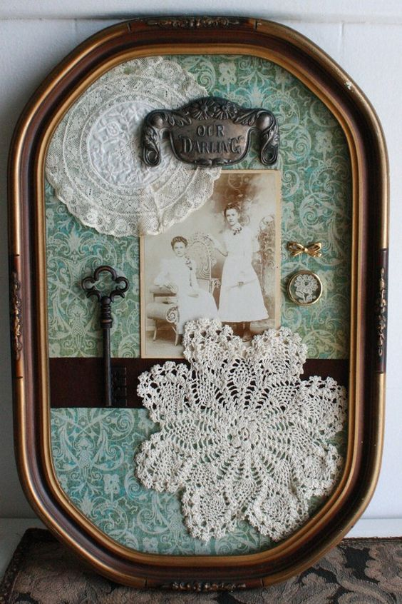 Oak Antique Shadow Box Bubble Frame Could Do This With