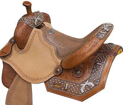 "14"", 15"", 16"" Double T barrel racing saddle. MPN 469"