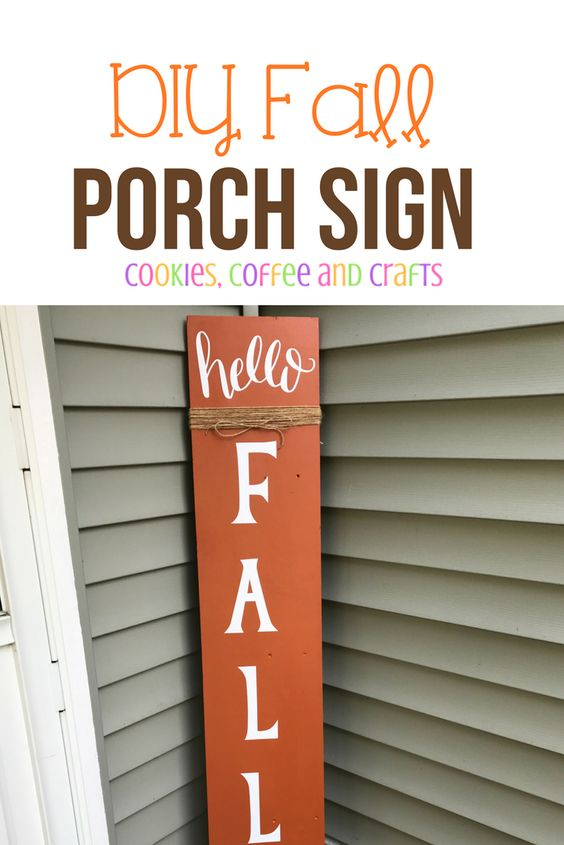 Using your Cricut Maker and vinyl create a DIY fall porch sign to welcome everyone to your home and to celebrate fall. #FallPorchDecor #Fall #FallSign #FallDecorating #PorchDecor #CricutMade #FallDecor #FallIdea #Vinyl