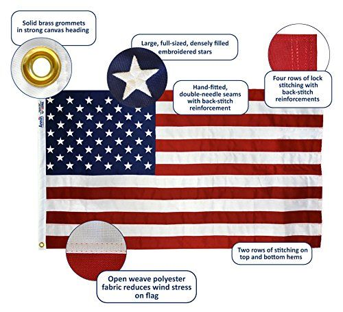 Annin American Flag 5x8 Ft Tough Tex The Strongest Longest Lasting Flag By Flagmakers 100 Made In Usa With Sewn Stripes Em Flag American Flag Flag Banners