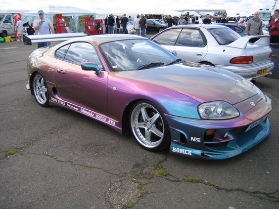 Supra with a California paint job! Don't like the color but the car is amazing!