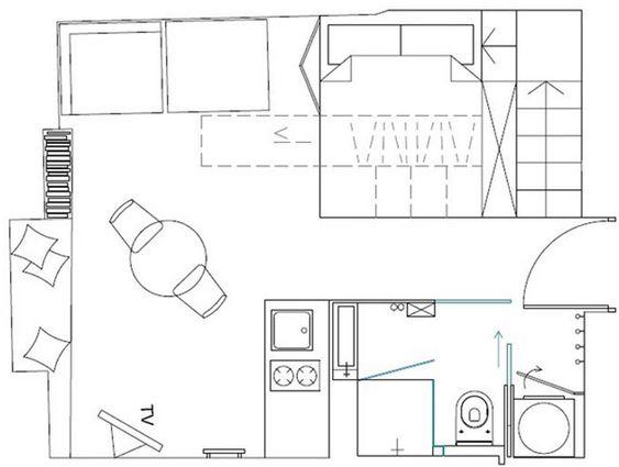 Uma linda kitnet de 22m² para você se inspirar - limaonagua