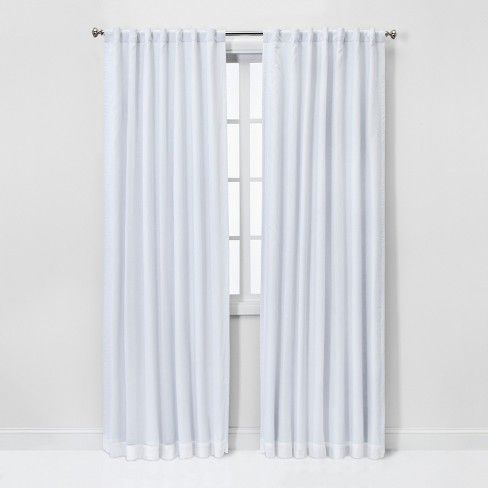Blackout Window Curtain Panel Threshold Panel Curtains White