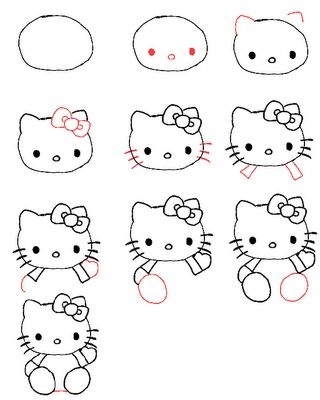 How to draw Hello Kitty!