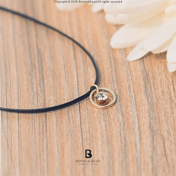 Bonny & Read 平價飾品 - [正韓] 簡約南法圓鑽頸鍊 / Bell Diamond Choker