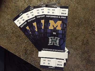 Michigan vs Hawaii Football Tickets 09/03/16 (Ann Arbor) https://t.co/7AgidLHjGe https://t.co/9gUkGpXOjp