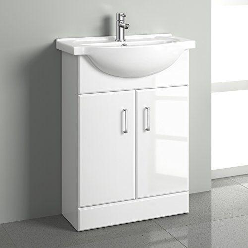 550mm White Gloss Basin Vanity Cabinet Bathroom Storage F Https Www Amazon Co Uk Dp B01dmchc Bathroom Furniture Storage Basin Cabinet Small Bathroom Sinks