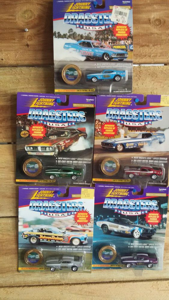 1 64 Lot 5 Johnny Lightning Drag Racing Usa Series Blue Max