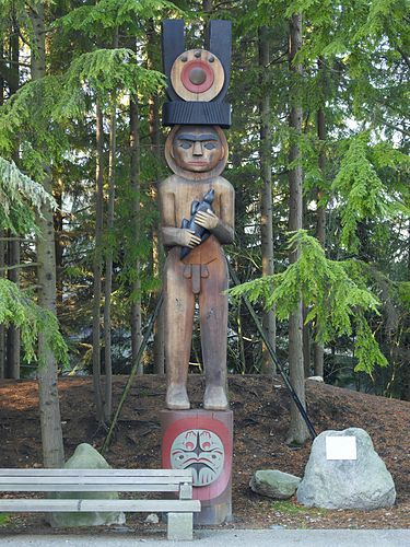 Welcome Figure. Coast Salish, British Columbia | Museum of Anthropology at UBC: