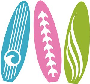 Silhouette Online Store: beach surf boards
