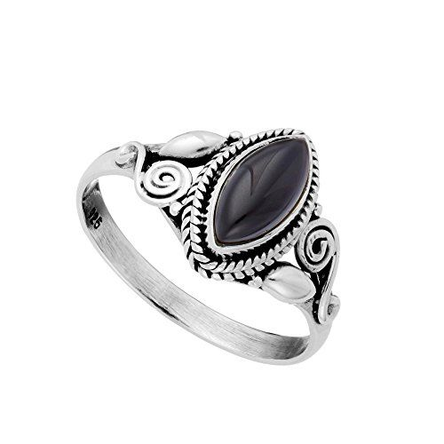 Super cool Black Onyx and Sterling Silver ring size 9