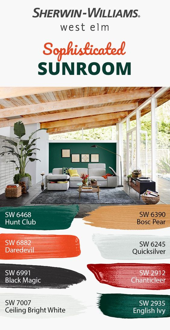 Tackling A Big Diy Project Like An Entire House Overwhelmed By Color Options Let Seasonal Hues Guide Yo Sherwin Williams Colors Sherwin Williams House Colors