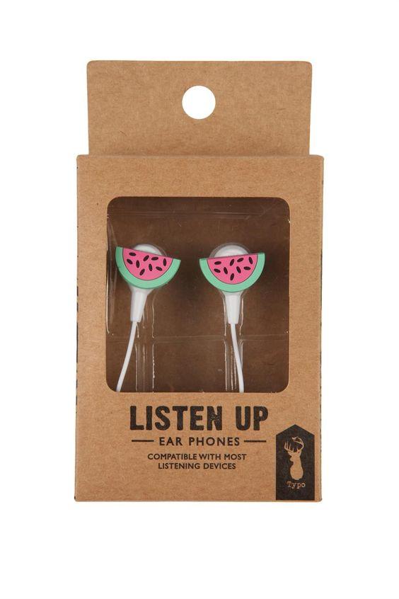 novelty earphones @ Typo $9.99