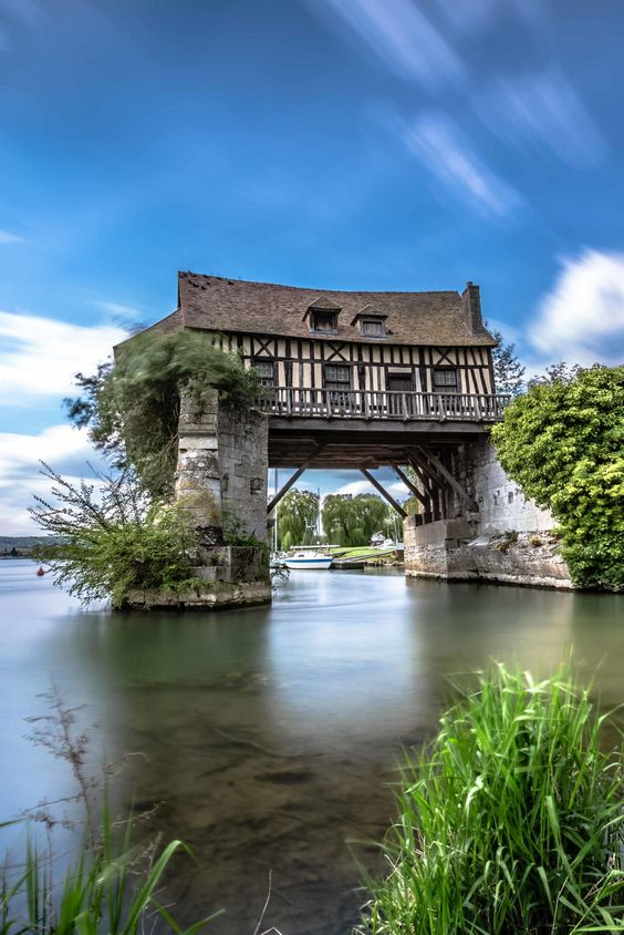 The 16th century mill of Vernon in Normandy, France #powerpatate #voyager: