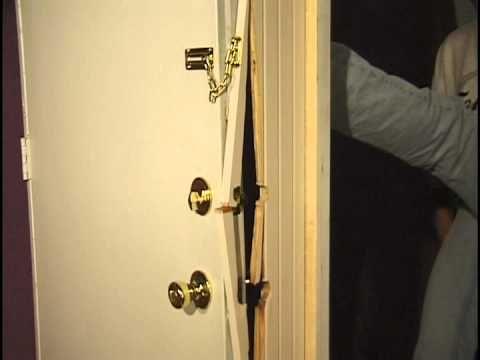 Doors Kicked In Nightlock Helps Prevent Home Invasions Front Door Security Security Door Front Door Locks