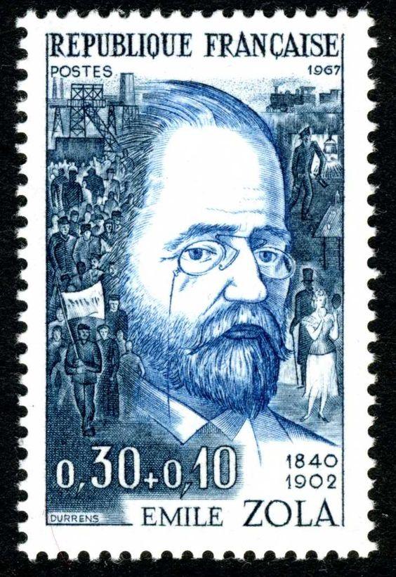 Resultado de imagem para selo de Émile Zola