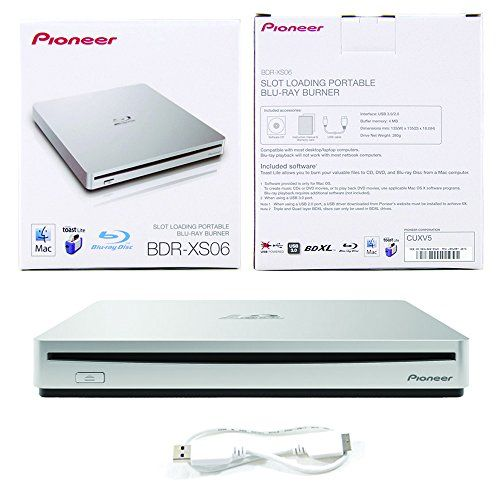 Pioneer 6X Slim Slot Portable USB 3.0/2.0 BD DVD CD Burner Support BDXL External Blu-Ray Writer in Retail Box + Roxio Toast Lite Burning Software + MDisc BD 1pk + USB Cable (BDR-XS06) Mac OS Compatible  http://www.bestcheapsoftware.com/pioneer-6x-slim-slot-portable-usb-3-02-0-bd-dvd-cd-burner-support-bdxl-external-blu-ray-writer-in-retail-box-roxio-toast-lite-burning-software-mdisc-bd-1pk-usb-cable-bdr-xs06-mac-os-compatibl/
