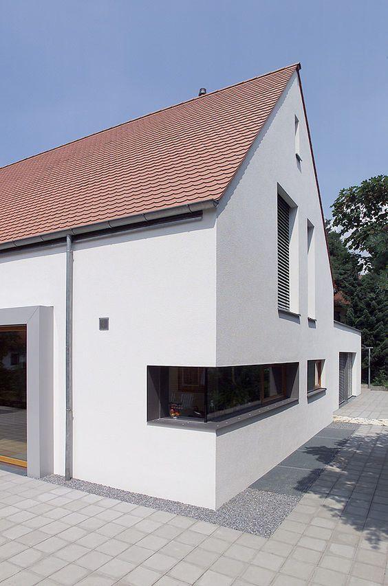 moderne Hausarchitektur offener Wohnbereich