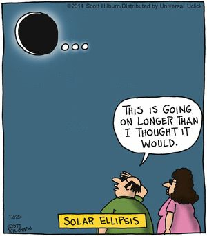 Oh land, an ellipsis cartoon! 12.27.14 The Argyle Sweater, by Scott Hilburn: