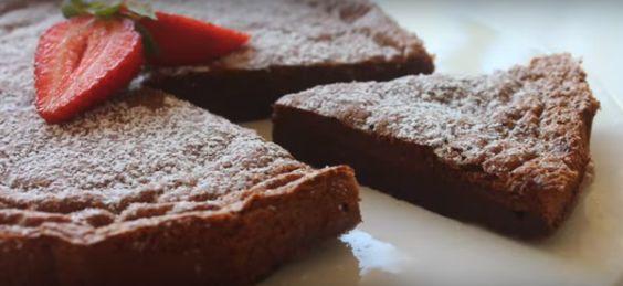 Deze chocoladetaart maak je met twee ingrediënten