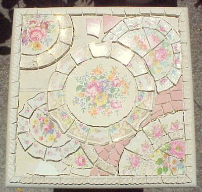 BROKEN CHINA MOSAIC HOW TO: MOSAIC STYLE ~ PIQUE ASSIETTE DEFINED