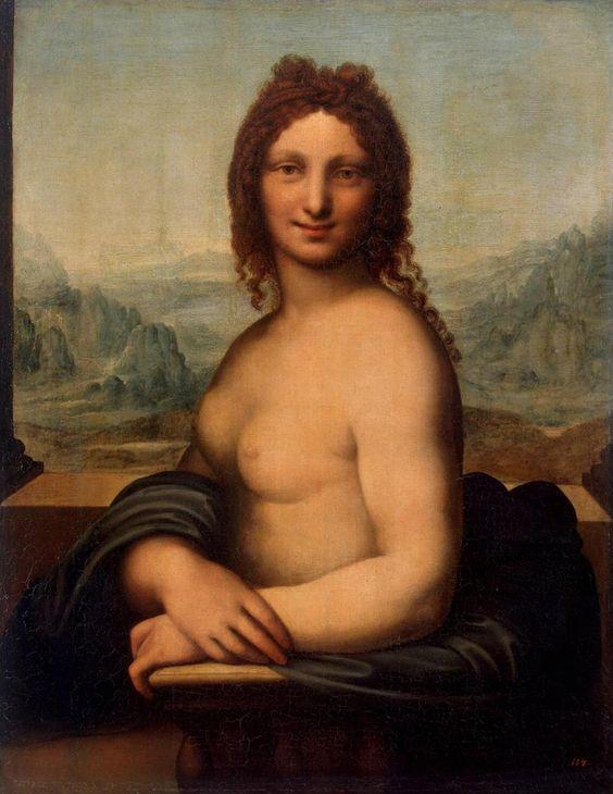 【速報】レオナルドダヴィンチが描いた「裸のモナリザ」発見される 慣れ親しんだ同僚の女の裸をみたようなエロさ  [876811395]->画像>14枚