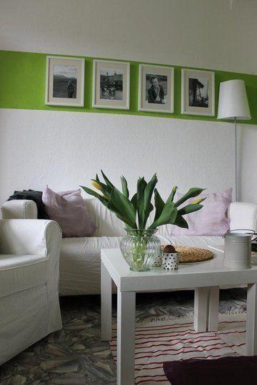 Love the stripe!: Living Room, Wall Stripe, Green Stripes, Painted Stripes, Paint Stripes