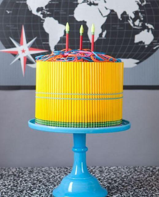 DIY Back To School Pencil Cake!