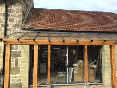 Glazed Glass Roof Fitted Awesome Lean To Porch Roofs Uk Glass