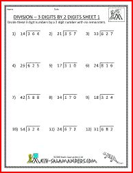 Printables 5th Grade Long Division Worksheets long division 3 digits by 2 5th grade worksheets