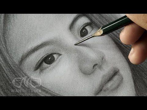 Cara Menggambar Cewek Cantik Gege Elisa Youtube Gambar Seni Wajah Cara Menggambar