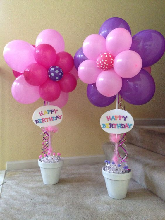 Balloons for birthday and flower on pinterest