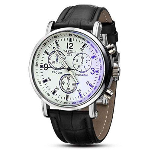 Men's characteristic Leather  grouping accurate timer Watch | Hansom Beautiful