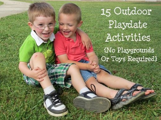 15 Activities for a simple outdoor playdate. No playgrounds or toys required!