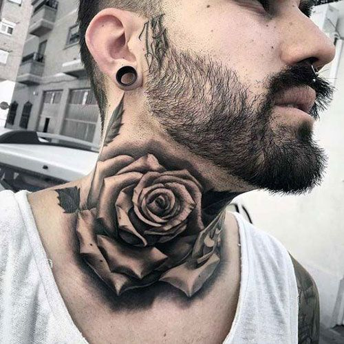 125 Best Neck Tattoos For Men Cool Ideas Designs 2020 Guide Rose Neck Tattoo Neck Tattoo For Guys Best Neck Tattoos