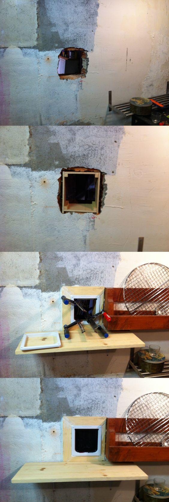 chati re dans mur brique des chats dans la maison. Black Bedroom Furniture Sets. Home Design Ideas