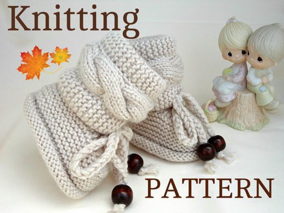 Knitting P A T T E R N Baby Booties Baby Shoes by ...